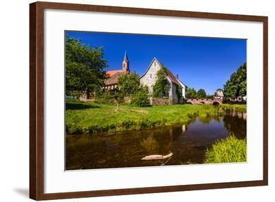 Germany, Bavaria, Lower Franconia, 'Fr?nkisches Saaletal' (Saale Valley), Gr?fendorf-Udo Siebig-Framed Photographic Print