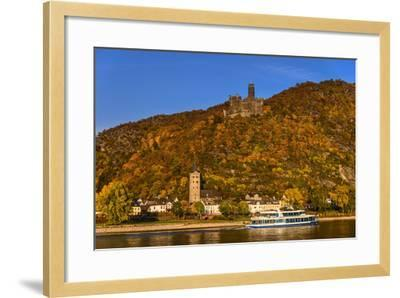Germany, Rhineland-Palatinate, Upper Middle Rhine Valley, Sankt Goarshausen, District Wellmich-Udo Siebig-Framed Photographic Print