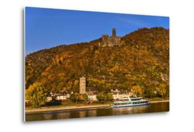 Germany, Rhineland-Palatinate, Upper Middle Rhine Valley, Sankt Goarshausen, District Wellmich-Udo Siebig-Metal Print