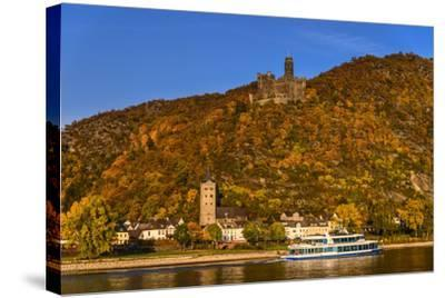 Germany, Rhineland-Palatinate, Upper Middle Rhine Valley, Sankt Goarshausen, District Wellmich-Udo Siebig-Stretched Canvas Print
