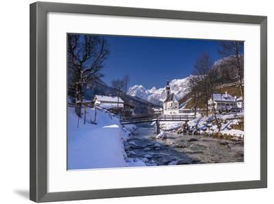 Germany, Bavaria, Upper Bavaria, Berchtesgaden, Ramsau Bei Berchtesgaden-Udo Siebig-Framed Photographic Print