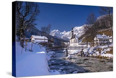 Germany, Bavaria, Upper Bavaria, Berchtesgaden, Ramsau Bei Berchtesgaden-Udo Siebig-Stretched Canvas Print