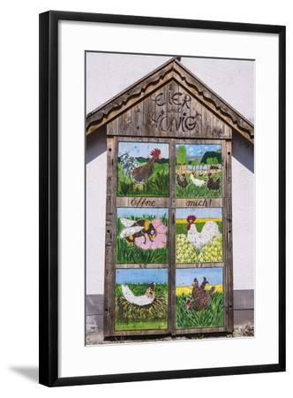 Germany, Bavaria, Upper Bavaria, T?lzer Land, Schlehdorf Am Kochelsee, Sales Cupboard-Udo Siebig-Framed Photographic Print