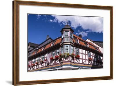 Germany, Hessen, Taunus, German Timber-Frame Road, Idstein, K?nig-Adolf-Platz, Timber-Framed Facade-Udo Siebig-Framed Photographic Print