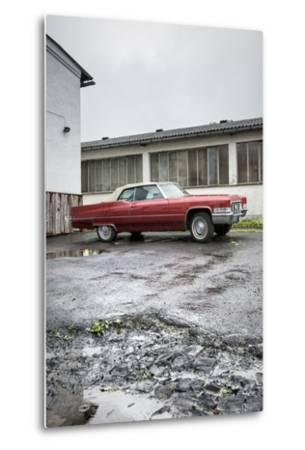 Hachenburg, Hesse, Germany, Cadillac Deville Convertible, 1969 Model, Cubic Capacity 7.0 L-Bernd Wittelsbach-Metal Print
