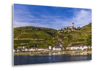 Germany, Rhineland-Palatinate, Upper Middle Rhine Valley, Kaub, Rhine Valley-Udo Siebig-Metal Print