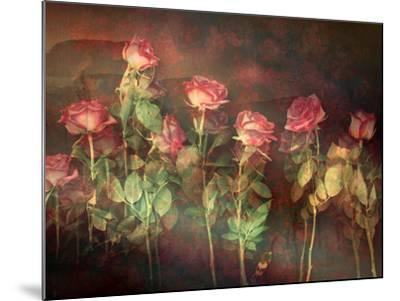 Pink Roses with Textures and Floral Ornaments-Alaya Gadeh-Mounted Photographic Print