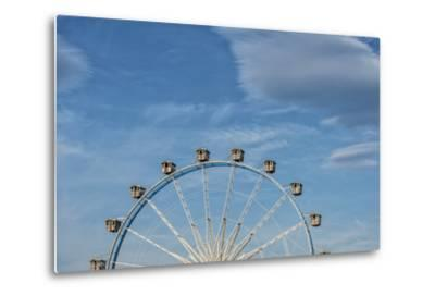 Frankfurt on the Main, Hesse, Germany, Ferris Wheel at the Frankfurt Spring Fair Dippemess-Bernd Wittelsbach-Metal Print