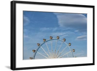 Frankfurt on the Main, Hesse, Germany, Ferris Wheel at the Frankfurt Spring Fair Dippemess-Bernd Wittelsbach-Framed Photographic Print