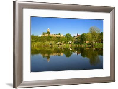 Germany, Saxony-Anhalt, Burgenlandkreis, Castle and Village Sch?nburg Above the Saale-Andreas Vitting-Framed Photographic Print