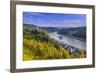 Germany, Rhineland-Palatinate, Upper Middle Rhine Valley, Kaub, Rhine Valley-Udo Siebig-Framed Photographic Print