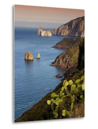 Italy, Sardinia, Nebida, Coastline, Sea, Dusk, Europe, South Island, West Coast, Scenery-Steffen Beuthan-Metal Print