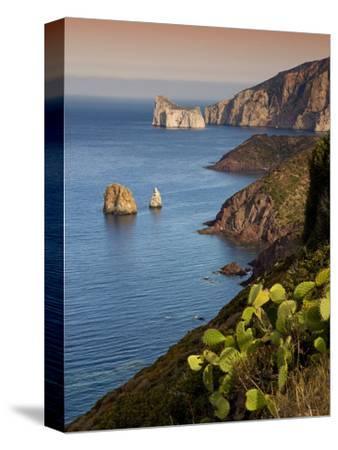 Italy, Sardinia, Nebida, Coastline, Sea, Dusk, Europe, South Island, West Coast, Scenery-Steffen Beuthan-Stretched Canvas Print