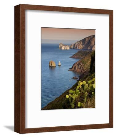 Italy, Sardinia, Nebida, Coastline, Sea, Dusk, Europe, South Island, West Coast, Scenery-Steffen Beuthan-Framed Photographic Print