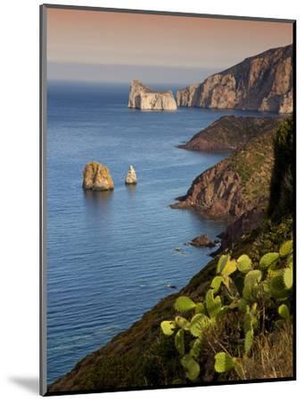Italy, Sardinia, Nebida, Coastline, Sea, Dusk, Europe, South Island, West Coast, Scenery-Steffen Beuthan-Mounted Photographic Print