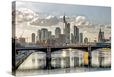 Germany, Hesse, Frankfurt on the Main, Skyline, Selective Focus-Bernd Wittelsbach-Stretched Canvas Print
