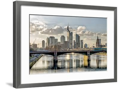 Germany, Hesse, Frankfurt on the Main, Skyline, Selective Focus-Bernd Wittelsbach-Framed Photographic Print