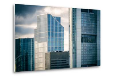 Germany, Hesse, Frankfurt on the Main, Windows of High-Rise Office Blocks-Bernd Wittelsbach-Metal Print