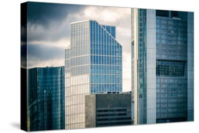 Germany, Hesse, Frankfurt on the Main, Windows of High-Rise Office Blocks-Bernd Wittelsbach-Stretched Canvas Print