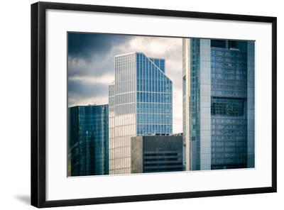 Germany, Hesse, Frankfurt on the Main, Windows of High-Rise Office Blocks-Bernd Wittelsbach-Framed Photographic Print