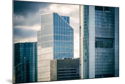Germany, Hesse, Frankfurt on the Main, Windows of High-Rise Office Blocks-Bernd Wittelsbach-Mounted Photographic Print
