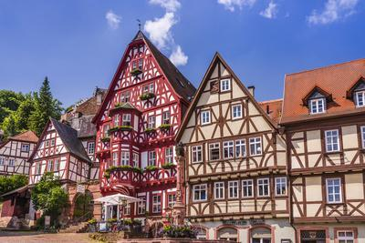 Germany, Bavaria, Lower Franconia, Mainfranken, the Main River-Udo Siebig-Framed Photographic Print