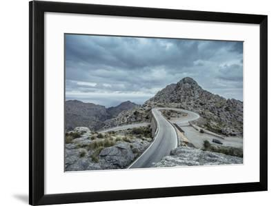 Mountain Pass Road on Majorca, Sa Calobra, Serpentine-Jorg Simanowski-Framed Photographic Print