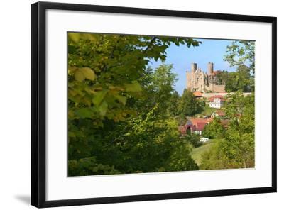 Germany, Thuringia, Eichsfeld (Region), Rimbach (District) and Castle Hanstein-Andreas Vitting-Framed Photographic Print