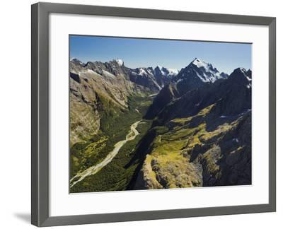 Tutoko River, Valley, Fiordland National Park, Southern Alps, Southland, South Island, New Zealand-Rainer Mirau-Framed Photographic Print