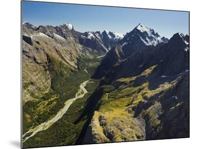 Tutoko River, Valley, Fiordland National Park, Southern Alps, Southland, South Island, New Zealand-Rainer Mirau-Mounted Photographic Print