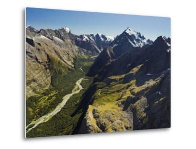 Tutoko River, Valley, Fiordland National Park, Southern Alps, Southland, South Island, New Zealand-Rainer Mirau-Metal Print