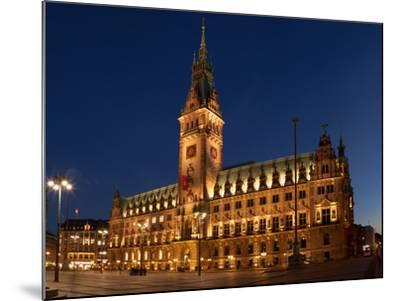 Hamburg, Panorama, City Hall Market, in the Evening-Catharina Lux-Mounted Photographic Print