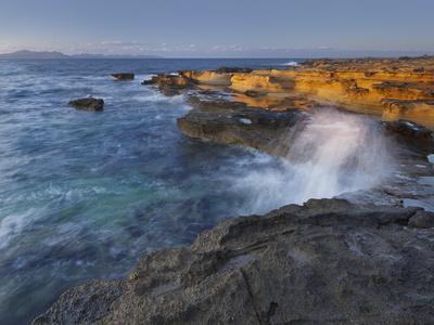 Sandstone Coast at Betlem, Del Llevant Peninsula, Majorca, Spain-Rainer Mirau-Premium Photographic Print