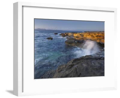 Sandstone Coast at Betlem, Del Llevant Peninsula, Majorca, Spain-Rainer Mirau-Framed Premium Photographic Print