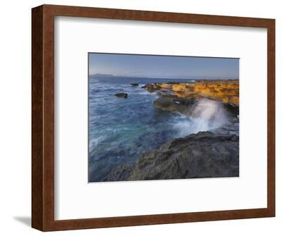 Sandstone Coast at Betlem, Del Llevant Peninsula, Majorca, Spain-Rainer Mirau-Framed Photographic Print
