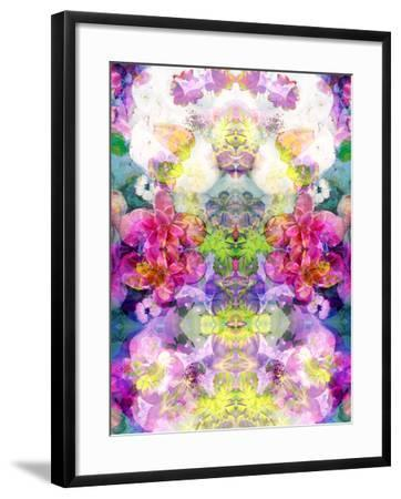 Multicolor Blossoms in Water Ornament Symmetri-Alaya Gadeh-Framed Photographic Print