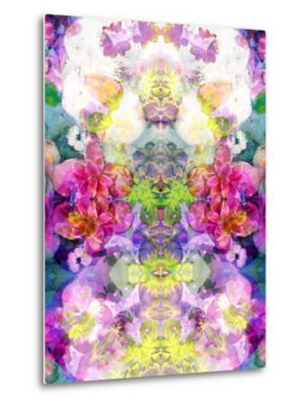 Multicolor Blossoms in Water Ornament Symmetri-Alaya Gadeh-Metal Print