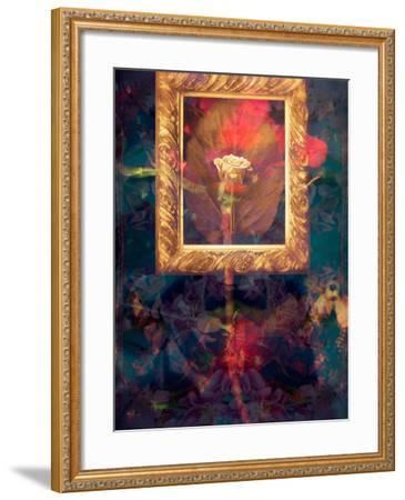 A Floral Montage from Roses in a Golden Frame-Alaya Gadeh-Framed Photographic Print