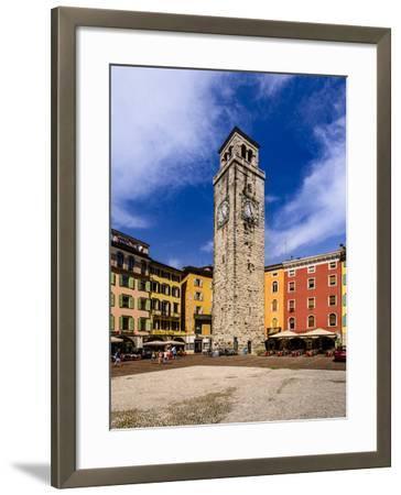 Italy, Trentino South Tyrol, Trentino, Lake Garda, Riva Del Garda, Torre Apponale-Udo Siebig-Framed Photographic Print