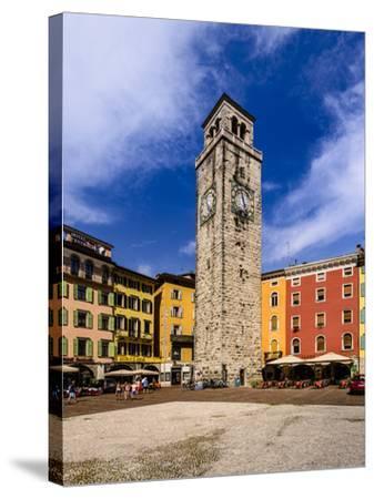 Italy, Trentino South Tyrol, Trentino, Lake Garda, Riva Del Garda, Torre Apponale-Udo Siebig-Stretched Canvas Print