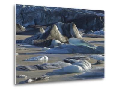 Icebergs in the Glacier Lagoon Sv'nafellsjškull, East Iceland, Iceland-Rainer Mirau-Metal Print