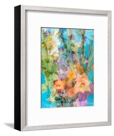 Colorful Photomontage of Flowers, Bouquet-Alaya Gadeh-Framed Photographic Print