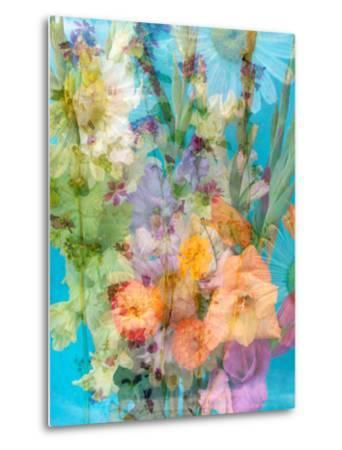 Colorful Photomontage of Flowers, Bouquet-Alaya Gadeh-Metal Print