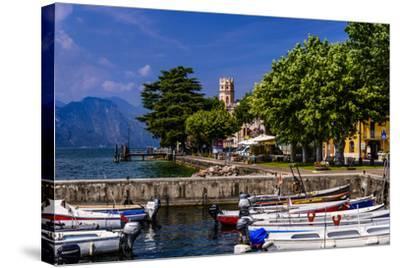 Italy, Veneto, Lake Garda, Torri Del Benaco, District Pai, Townscape-Udo Siebig-Stretched Canvas Print