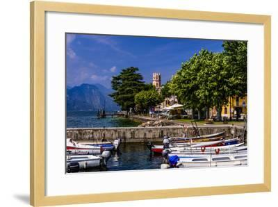 Italy, Veneto, Lake Garda, Torri Del Benaco, District Pai, Townscape-Udo Siebig-Framed Photographic Print
