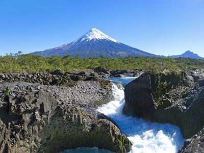 South America, Chile, Patagonia, Petrohue National Park, Volcano Osorno-Chris Seba-Framed Photographic Print