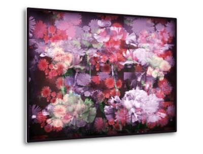 An Abstract Geometric Floral Montage Photographic Layer Work-Alaya Gadeh-Metal Print