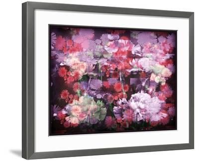 An Abstract Geometric Floral Montage Photographic Layer Work-Alaya Gadeh-Framed Photographic Print