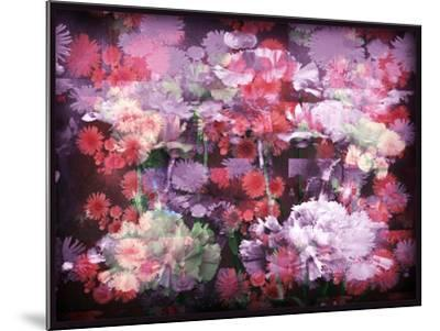 An Abstract Geometric Floral Montage Photographic Layer Work-Alaya Gadeh-Mounted Photographic Print