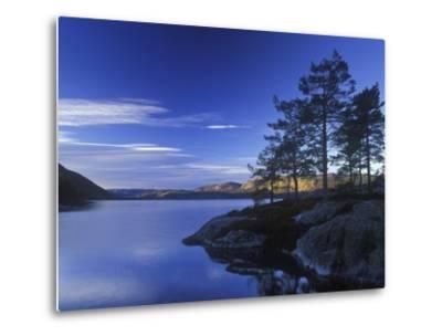 Norway, Telemark, Nisser Lake, Sunrise-Andreas Keil-Metal Print